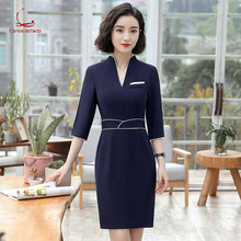 Beautician work clothes summer new style dress fashion temperament professional women health museum clothing