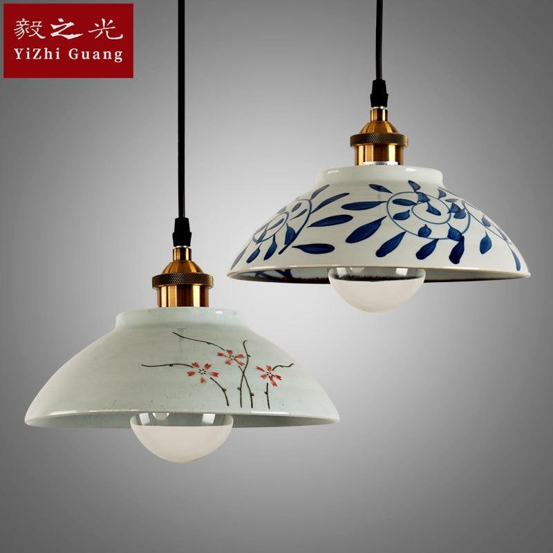 Lampes et lanternes de style de lampe à LED dessin ou modèle coloré manuel de droplight la lampe de salle à manger de salon