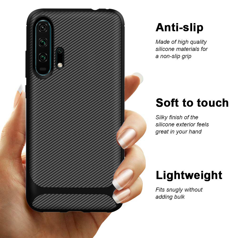 20 For Huawei Honor 20 Case Honor20 Carbon Fiber Textue Silicone TPU Soft Back Cover for Huawei Honor 20 Pro Phone Case Phone Bag (5)