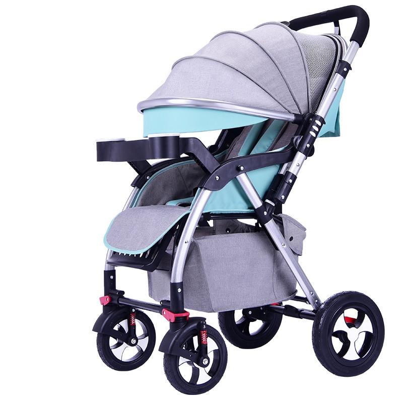 Stroller can sit reclining folding bi-directional portable baby ultra-light stroller