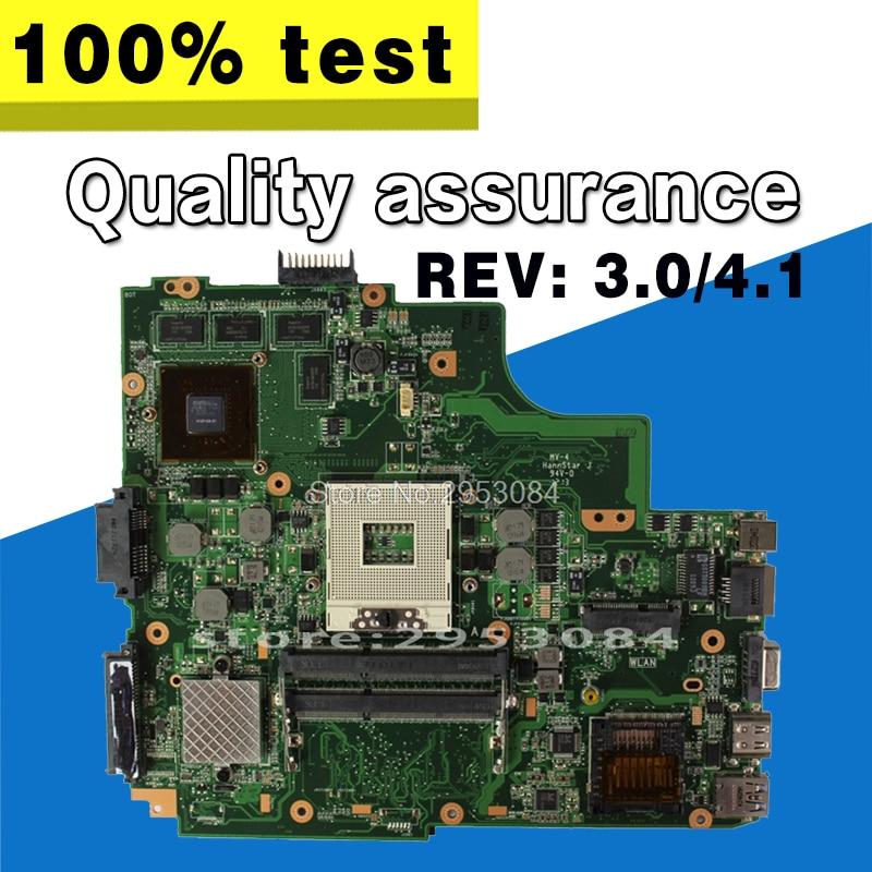 Laptop motherboard For Asus K43SJ K43SV A43S X43S Main board HM65 N12P-GS-A1 REV4.1 GT540M 2GB USB3.0 DDR3 VRAM 100% fully test