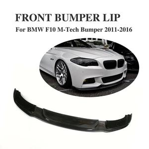 Carbon Fiber Front Lip Spoiler Apron Chin For BMW 5 Series F10 M Tech M Sport Bumper 2011-2016