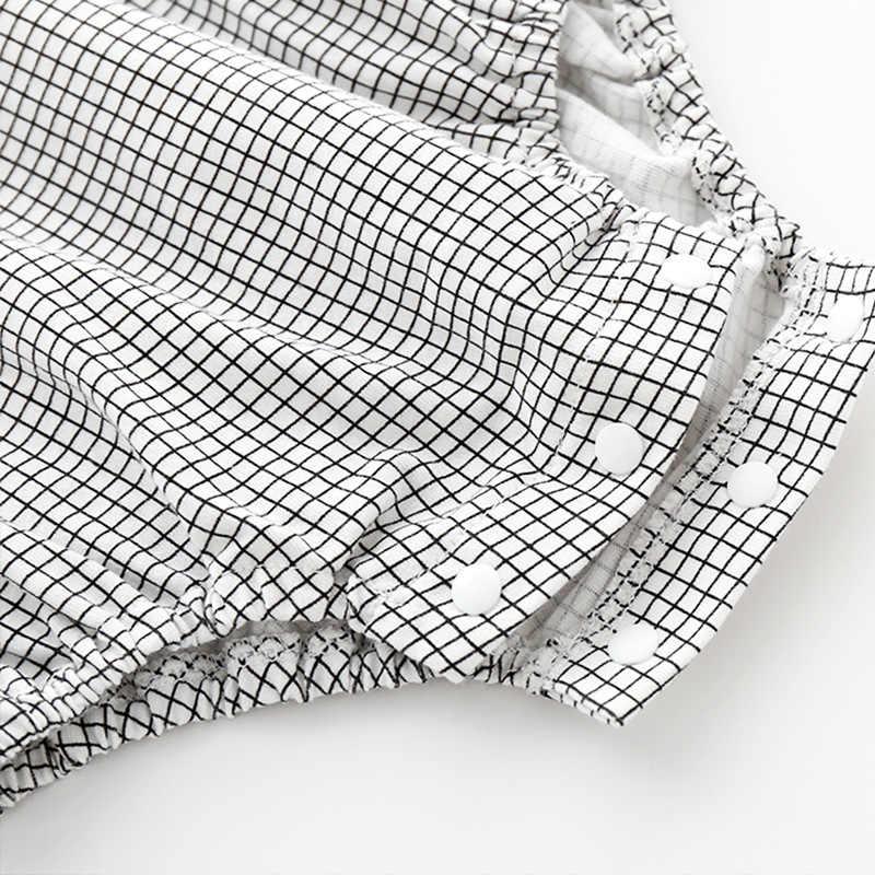 Новое летнее платье для маленьких девочек хлопчатобумажное Боди без рукавов для маленьких девочек Черно-Белая Кружевная блуза с 1 шт. боди для малышей, милая Одежда для девочек новорожденных 3 м