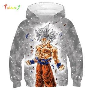 Image 1 - 드래곤 볼 까마귀 캐주얼 애니메이션 Goku 인쇄 빅 걸스 소년 후드 키즈 가을 아우터 긴 소매 아동 풀오버 스웨터