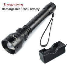 Uniquefire T38 Flashlight UF-1502 Cree XM-L2 3 Modes Zoom Focus Lens 1200LM Lamp Torch+Charger
