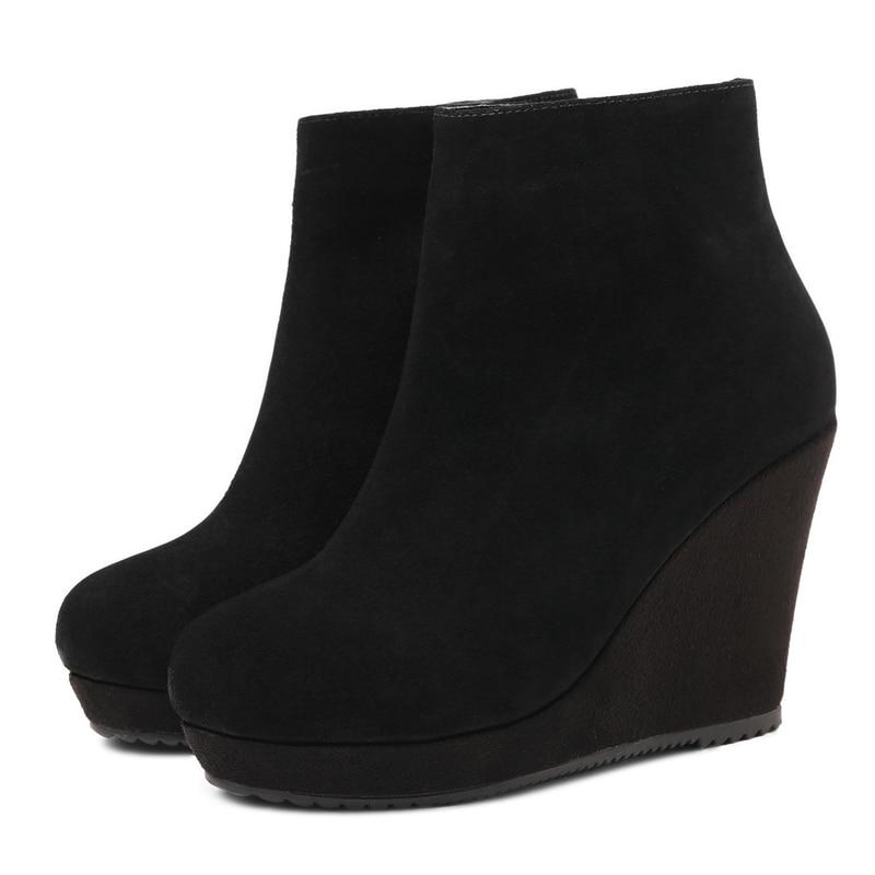 2018 34 Stiefeletten Kappe Zip Stiefel black 40 Winter Runde Größe Grund Schuhe Frauen Anmairon 1 Ly253 Black Mode wqnzYBHq