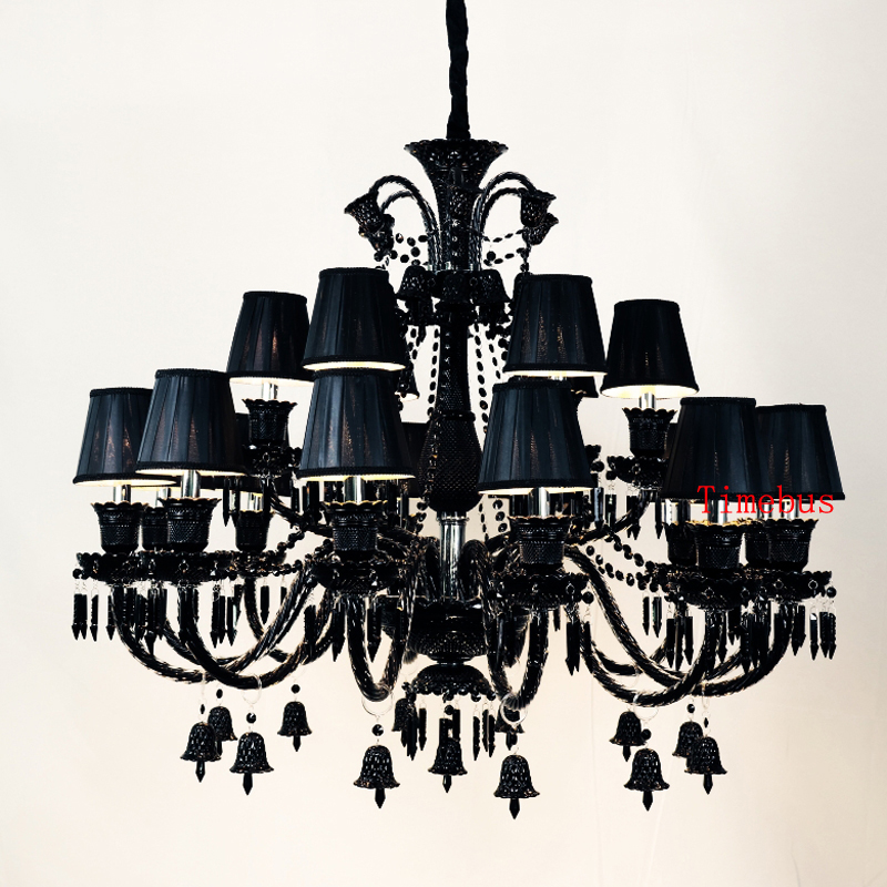 Black Crystal Chandelier for Living Room Lamps Modern Bedroom Lights Retro Restaurant Candle Lighting Chandelier for Kitchen free shipping white blue chandelier living room candle lamps luxury acrylic crystal chandelier lights ac 100% guaranteed