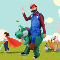 Holiday Funny Inflatable Walking Mario Costume Adult Walking Dinosaur Halloween Inflatable Dinosaur Fancy Dress