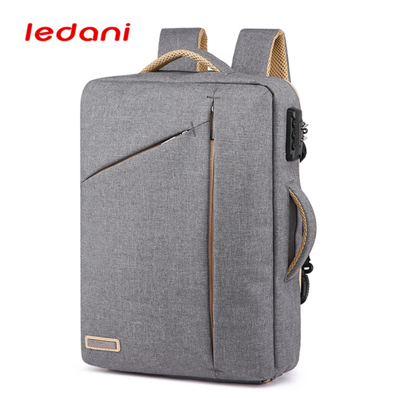 LEDANI Anti-theft Laptop Men Backpacks School Bag Password Lock Backpack Waterproof Casual Backpacks Business Travel Male Bags 14 15 15 6 inch flax linen laptop notebook backpack bags case school backpack for travel shopping climbing men women
