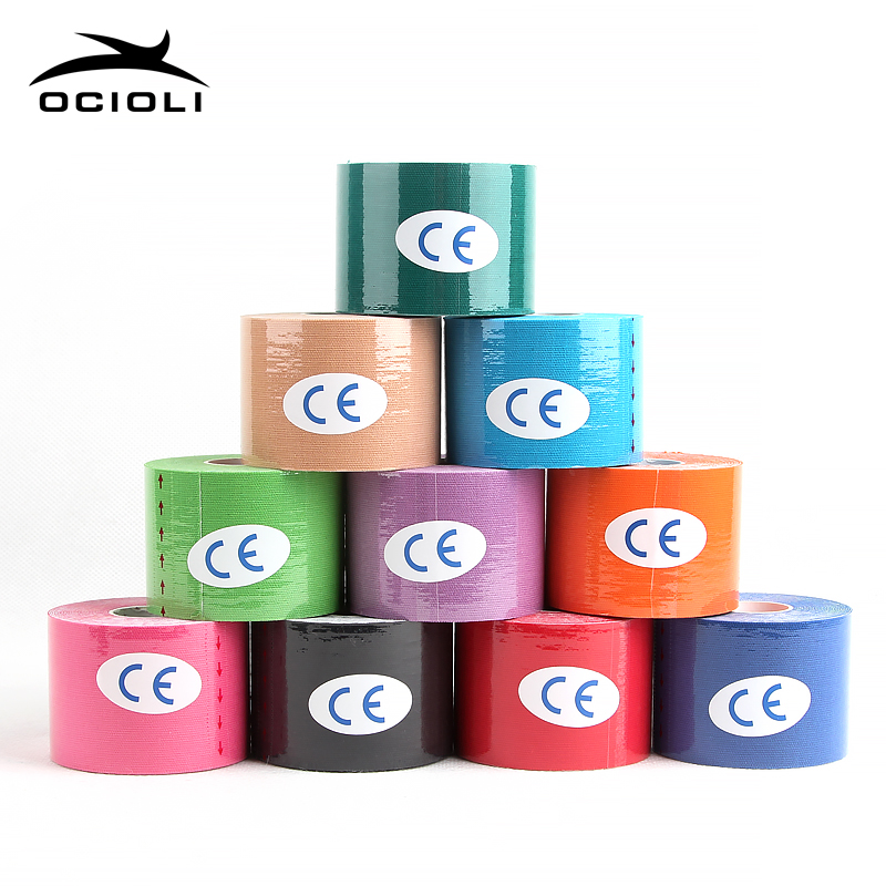 1 Roll Muscle Tape Bandage Sports Kinesiology Tape Roll Cotton Elastic Adhesive Strain Injury Muscle Sticker Kinesiologe