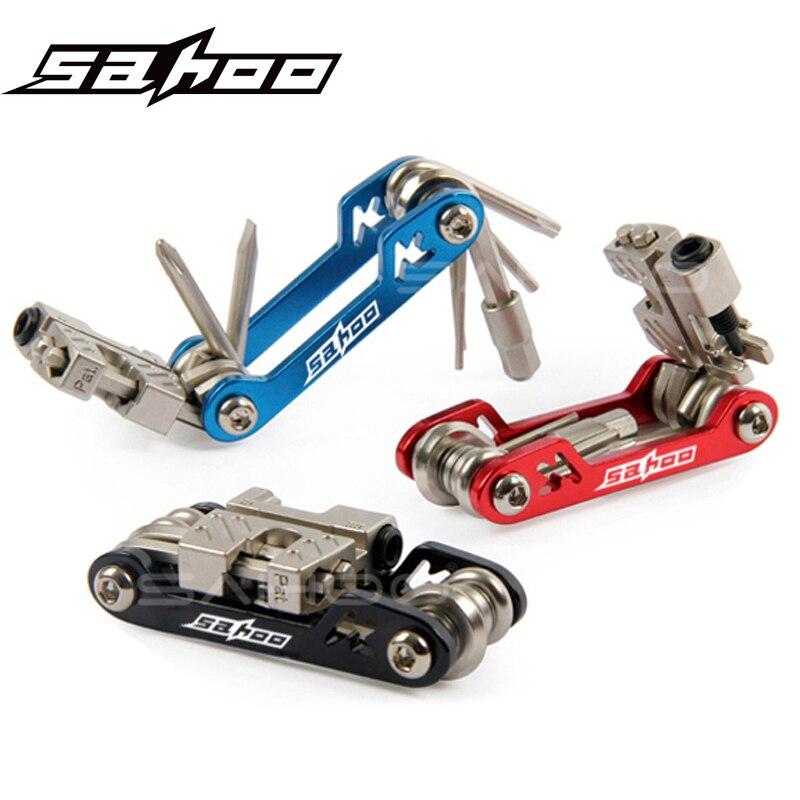 17 in 1 Bicycle Mini Folding Tool For Mountain-Road Bike Multi Repair Tools Kit