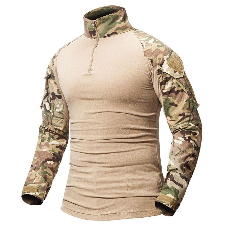 Spor ve Eğlence'ten Avcılık Uşak Takım Elbisesi'de Askeri avcılık giyim Multicam ordu savaş gömlek Hunter pantolon taktik siyah kargo pantolon Ghillie takım elbise üst avcılık giysisi title=