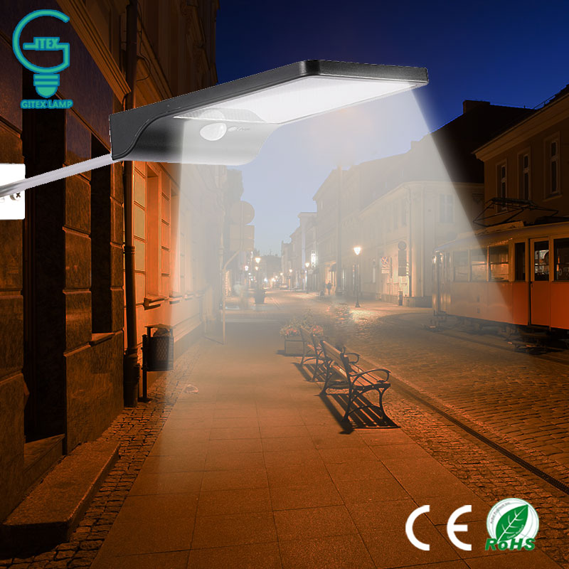 450LM 36 LED Solar Wall Light With PIR Motion Sensor Solar Power Street Lamp Outdoor Security Light For Garden Pathway Wall Lamp