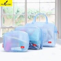 3pcs/set 2017 New Women Cosmetic Bags Multifunction Makeup Organizer Bag Women Cosmetic Bags Toiletry Kits Travel Bags bolsos