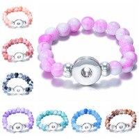 10 sztuk Piękna Sztuczna mix kolory perły koraliki Biżuteria Bransoletki fit 18 MM przycisk snap hurtownie