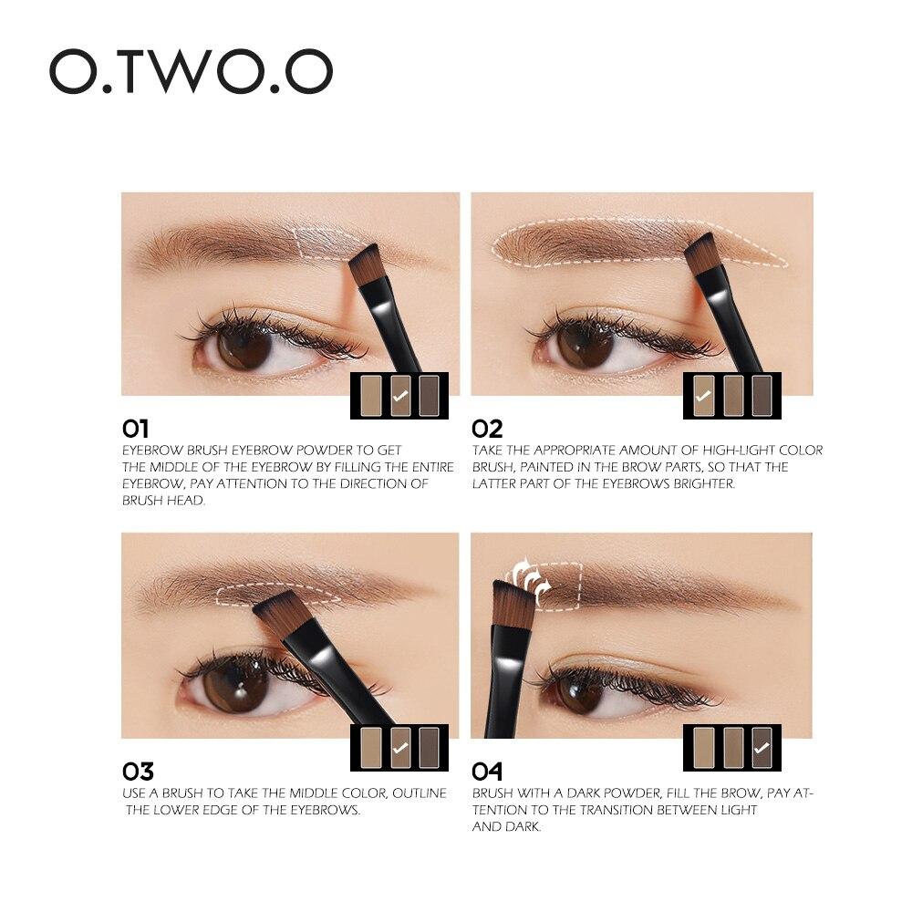 Ooo 3colors In 1 Waterproof Eye Shadow Eyebrow Powder Make Up