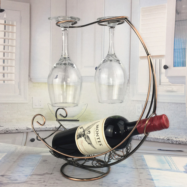 Creative Metal Wine Rack Hanging Wine Glass Holder Bar Stand Bracket Display Stand Bracket Decor  2