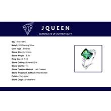 JQUEEN New Fashion 5.3ct Nano Russian Emerald Ring