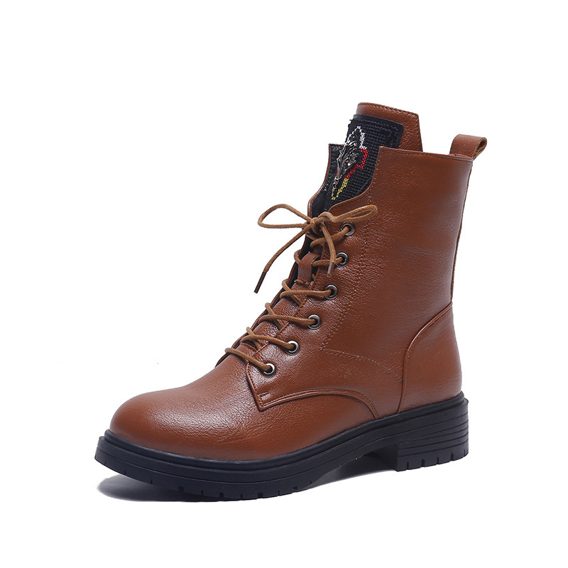 2018 autumn and winter new British wind Martin boots female wild ladies ankle boots brwon 02162018 autumn and winter new British wind Martin boots female wild ladies ankle boots brwon 0216