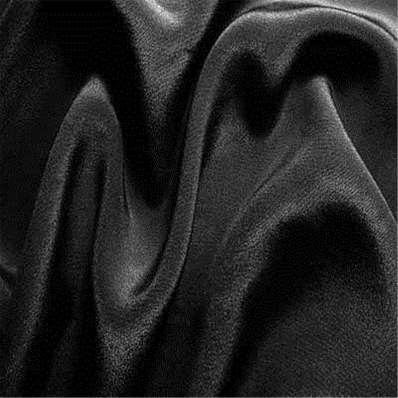 16 мм эластичный шелк крепдешин ткань шелк тутового шелкопряда 108 см ширина серебристый черный синий фиолетовый 10 метров маленькая - Цвет: 03