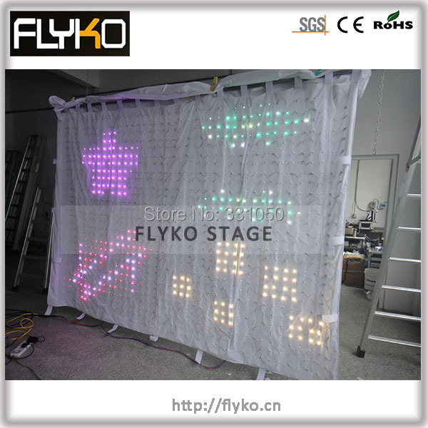 Free shipping p7 2x3m software editor Fireproof led cloth stage screen