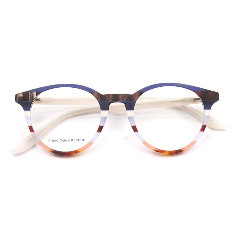 Mão feita acetato óculos quadro feminino gato