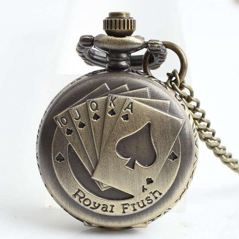 12 stks / partij Antiek Brons Zakhorloges FOB Horloges Mannen Vrouwen - Zakhorloge - Foto 3