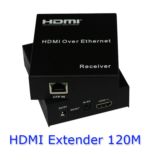 HDMI Extender 1080P over single CAT5E/6 upto 120M with IR pass back supports up to 120m with power adapter HDES02