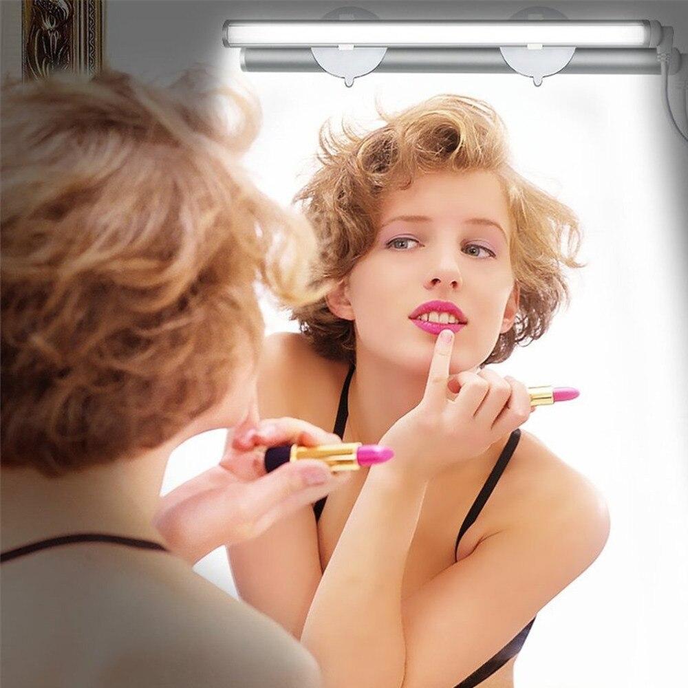 2018 новый свет тщеславия светодиодный Make Up Light Портативный косметическое зеркало свет комплект с 3 уровня Яркость затемнения USB питание макия... ...
