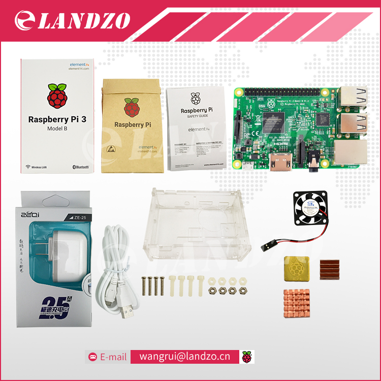 E Raspberry Pi 3 Model B starter kit pi 3 board pi 3 case American standard
