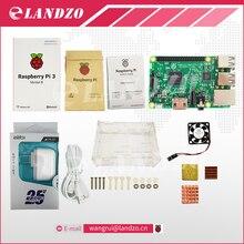 E Raspberry Pi 3 Model B başlangıç kiti-pi 3 kurulu/pi 3 case/Amerikan standart güç tedarik/ısı emici