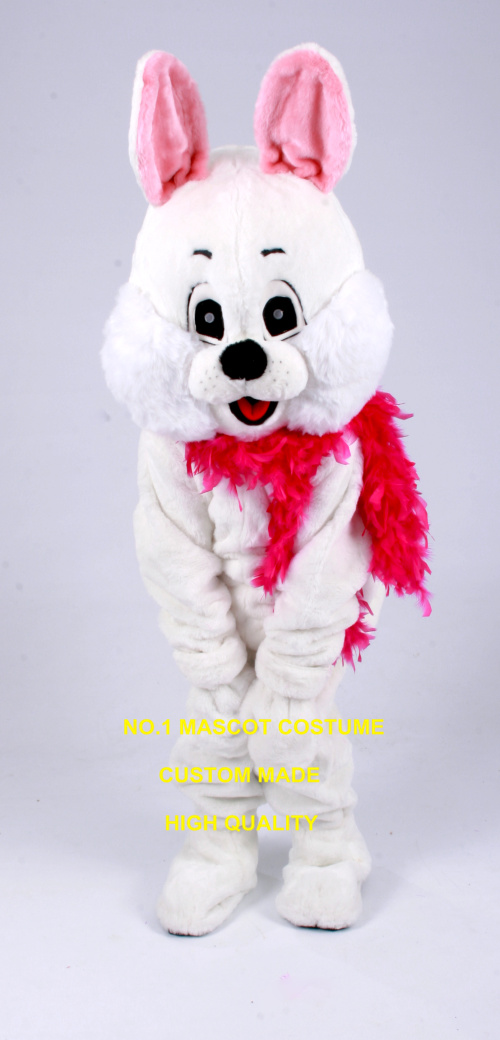 Mignon lapin blanc mascotte COSTUME adulte taille dessin animé personnage cheerleaders lapin carnaval fantaisie robe costumes kits 2482