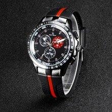 6b465b283eb Vogue Moda V6 Luxo Homens relógio Legal Pneu banda de silicone Preta Relógio  Analógico Homem Militar