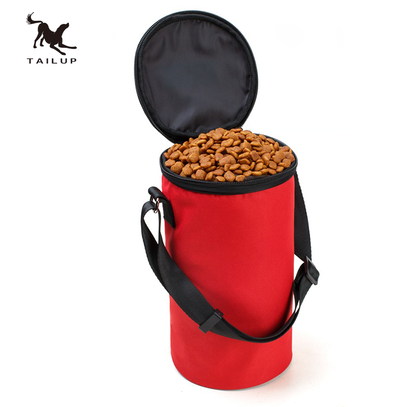 TAILUP New Collapsible Dog Travel Bowl Högkvalitativ Pet Hamster Dry Food Container Vattentät Väska