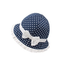 Bow Dots Baby Girls Hat Polka Panama Summer Sun Cotton Cute Bucket For Lace Princess Cap Clothing