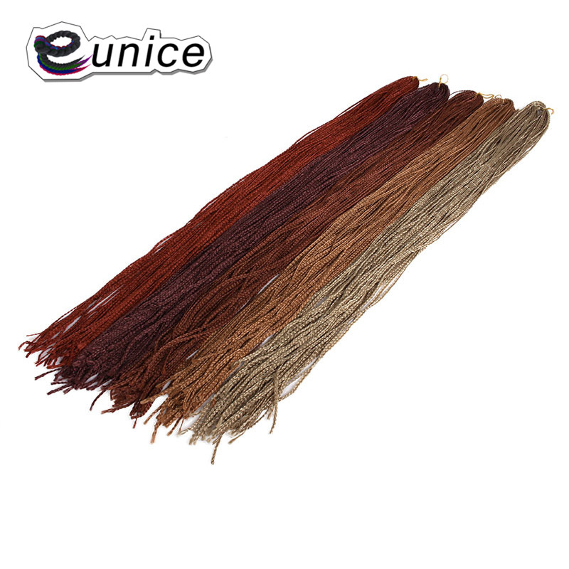 Eunice Synthetic Crochet Hair Braided 3S Box Braids Small Size Zizi Hair 28INCH 3pieces/lot High Temperature Fiber Free Shipping