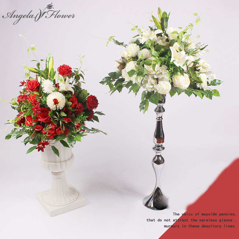 Customize 1m peony artificial flower row arranment centerpieces 40cm silk flower ball decor for wedding arch
