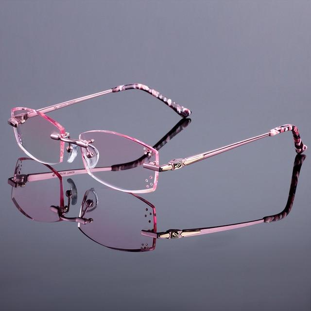 6547d1282d Original de la Marca Mujeres Marcos Sin Montura de Aleación de Titanio  Gafas Marco Gafas Sin