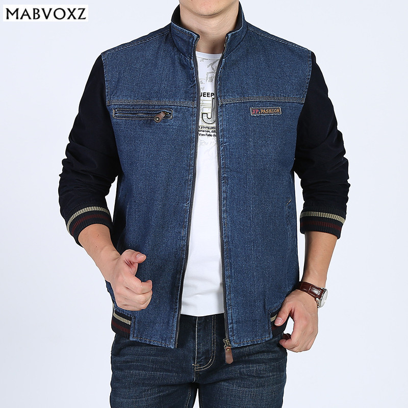 Vintage Classic Denim Jeans Men Jackets and Coats Loose 2018 Autumn Comfortable Soft Material Bomber AFS JEEP Brand Clothing