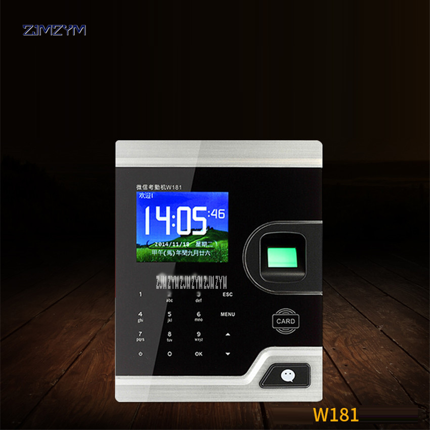 TCP IP Biometric Fingerprint Time Attendance Clock Recorder Employee Digital Electronic English Reader Machine USB ID Card W181 3 inch color screen m200 ic 13 56mhz smart card time attendance time recorder time clock with tcp ip