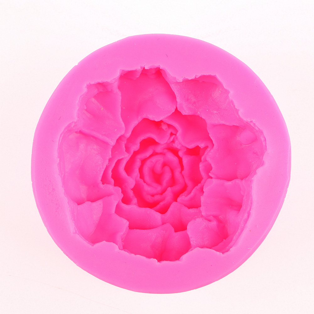 3D Reverse sugar molding flowers Carnation appear Food Grade silicone mould soap polymer clay moulds cake decorating tools F0443