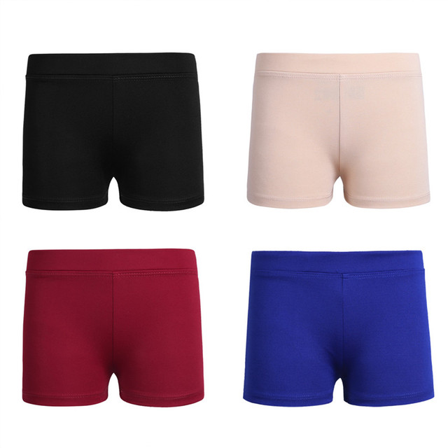 Girls Boy-cut Low Rise Activewear Dance Shorts for Yoga Sports Workout Gym Girl's Stretchy Breathable dance booty shorts SZ 6-12