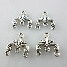 60 шт тибетские серебряные подвески-соединители Bails Подвески 13x12 мм Изготовление ювелирных изделий