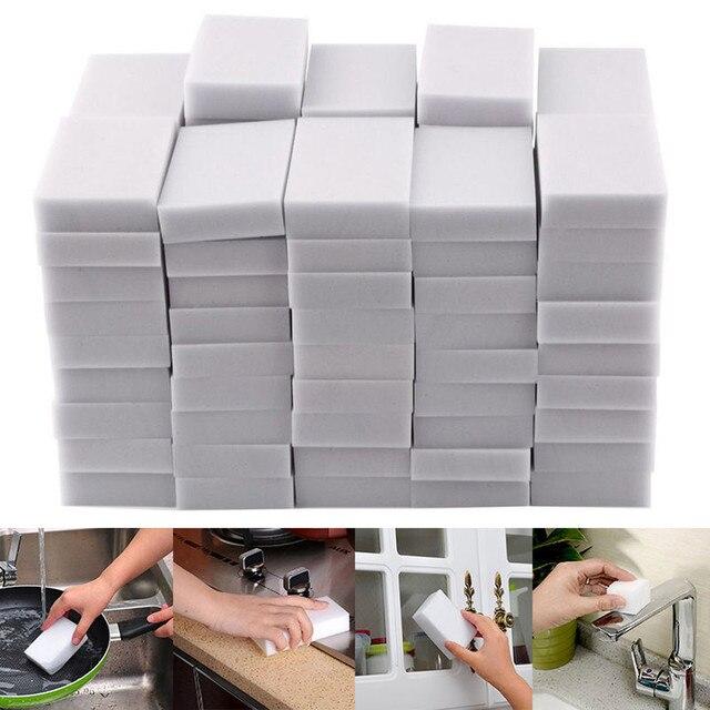 45 個ホワイトマジックスポンジ消しゴムクリーニングメラミンフォームクリーナーキッチンパッドキッチンアクセサリーメラミンスポンジ洗濯
