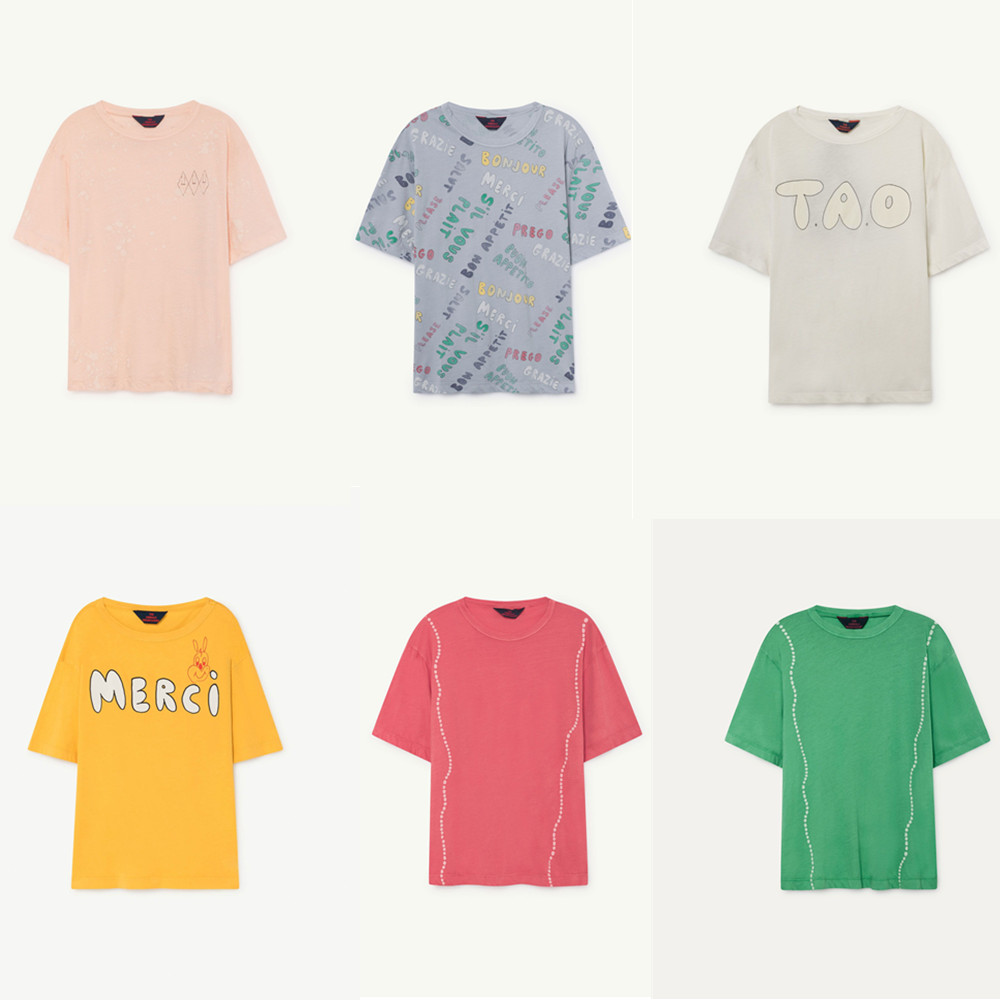 4281214f9 Pre-sale BOBOZONE 2019 Summer TAO Brand Bobo Choses Kids Cotton Tops Boys  Girls Cartoon