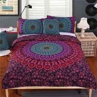 Bohemian Bedding Set Mandala Duvet Cover Set Posture Million Romantic Soft Bedclothes Queen Boho 4 Pieces Bed Set