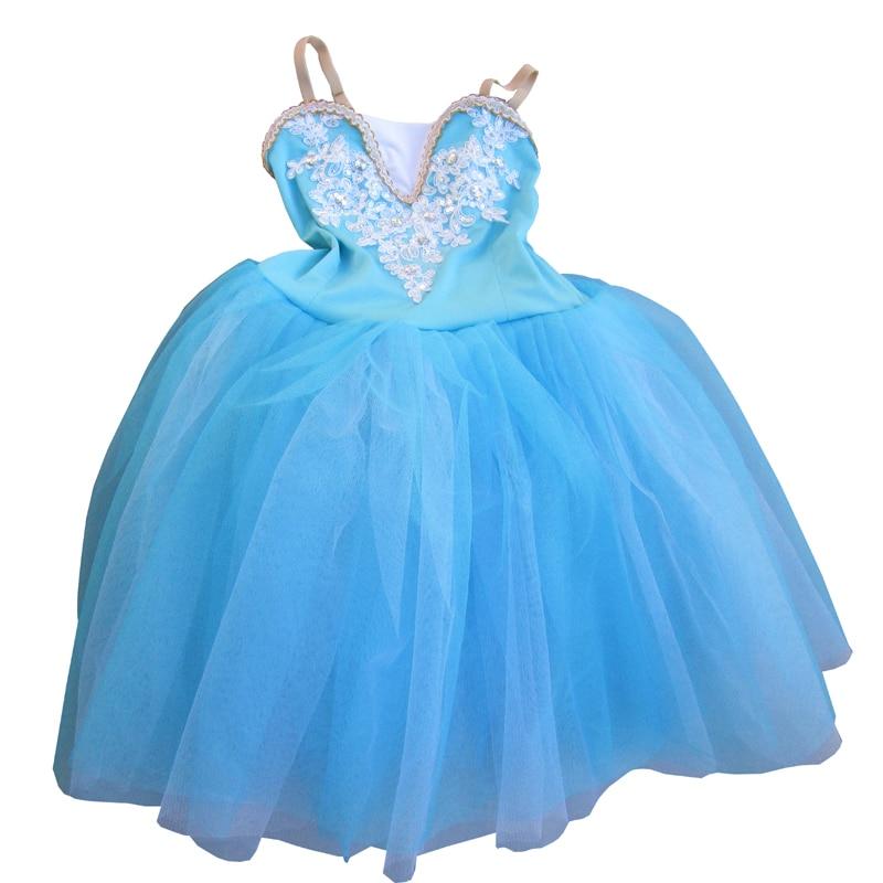 971ad44fe42 New Female Children s Ballet Tutu Skirts Giselle Swan White Romantic Style  Long Tutu Ballet Dance Costumes Ballerina Dress