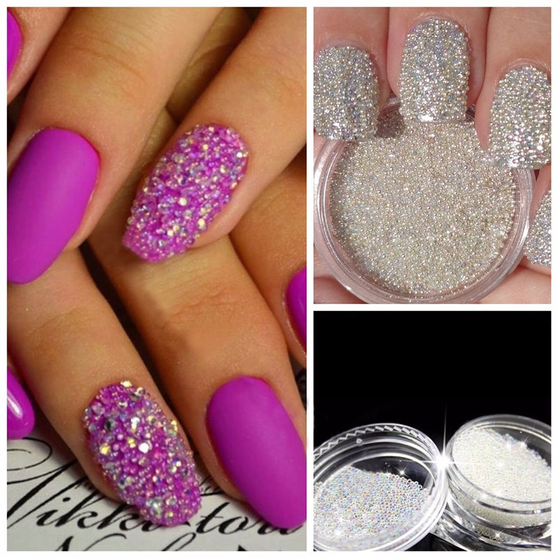 Nail Art Decoration Glitter Crystal Glass Caviar Beads Tiny 3D Micro Pixie Mermaid Nails Art Hot Nail Decorations M03373 10g box clear mini nail caviar decoration micro glitter beads manicures nail art rhinstone diy nail accessories tools