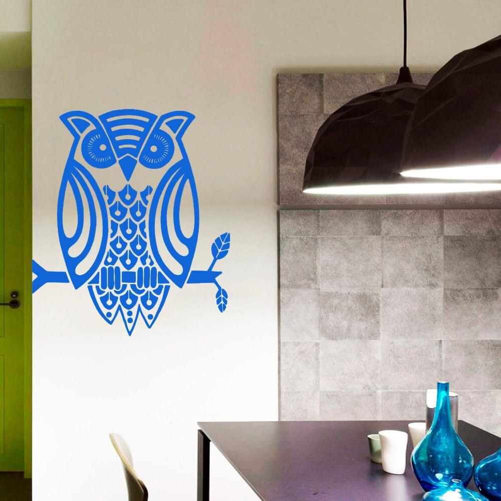Dctop New Arrival Cute Owl Wall Decal Vinyl Art Sticker Waterproof Home Decor Kitchen Wall Murals