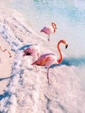 5D DIY diamond embroidery cartoon Flamingos  painting Cross Stitch full round Rhinestone mosaic decoration